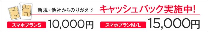 15000円 キャッシュバック
