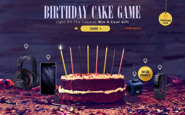 誕生日ケーキゲーム