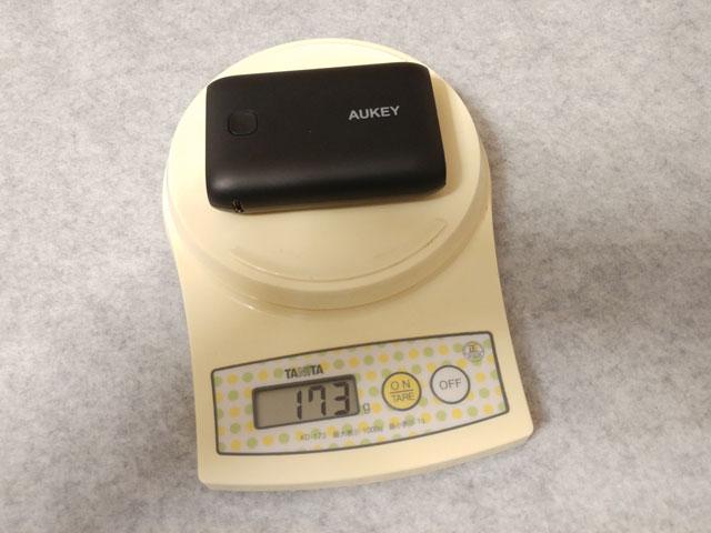 AUKEY モバイルバッテリー 10050mAh PB-N52 重さ