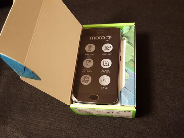 Moto G5 パッケージ