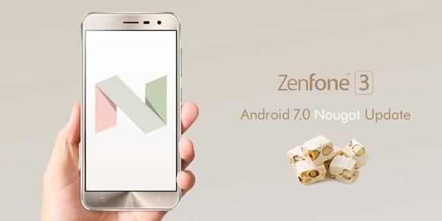 ZenFone 3(ZE520KL/ZE552KL) ZenPad 8.0(Z380M) Android 7.0 Nougat
