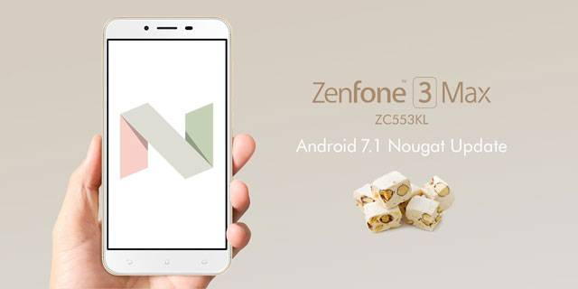 ZenFone 3 Max(ZC553KL) Android 7.1 Nougat アップデート