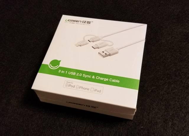 GREEN 3 in 1 Type C ケーブル ライトニング ケーブル USB C 変換 Micro USB