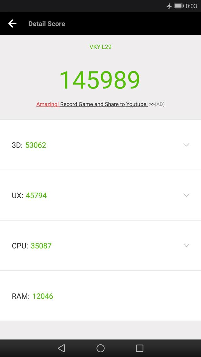 Huawei P10 Plus Antutu Benchmark