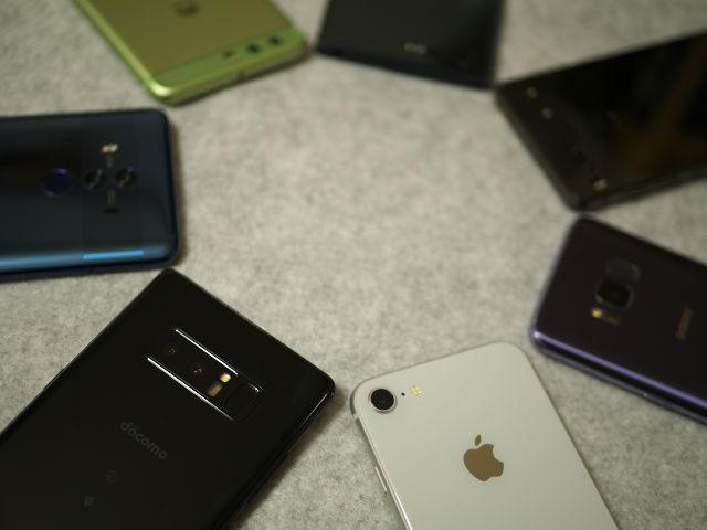Galaxy Note 8、Huawei Mate 10 Pro、iPhone 8など2017年フラグシップモデル作例