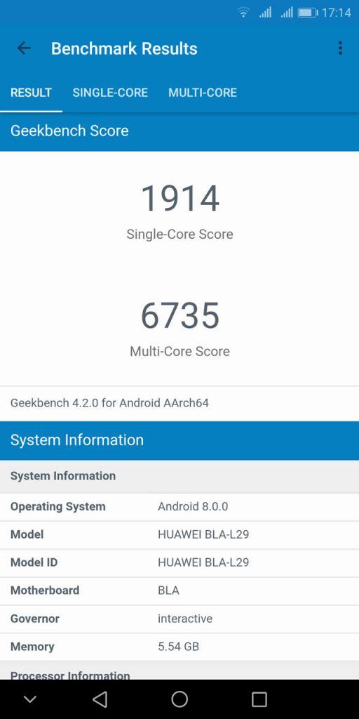 Huawei Mate 10 Pro ベンチマーク