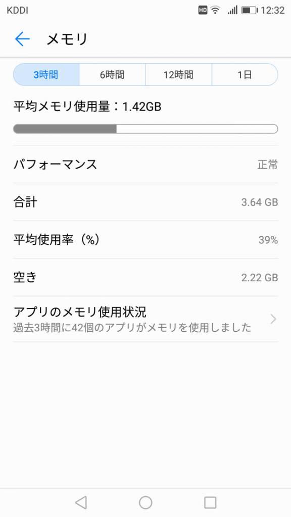 Huawei nova 2 メモリー