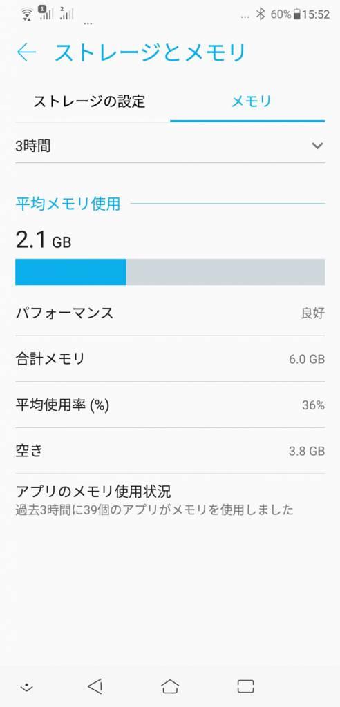 ZenFone 5Z メモリー