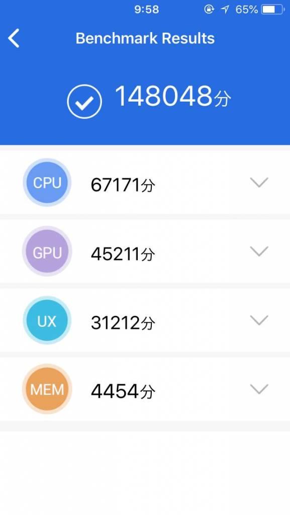 iPhone SE ベンチマーク